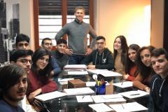 Gli studenti della V A presso lo studio dell'avvocato Angelo Greco a Cosenza
